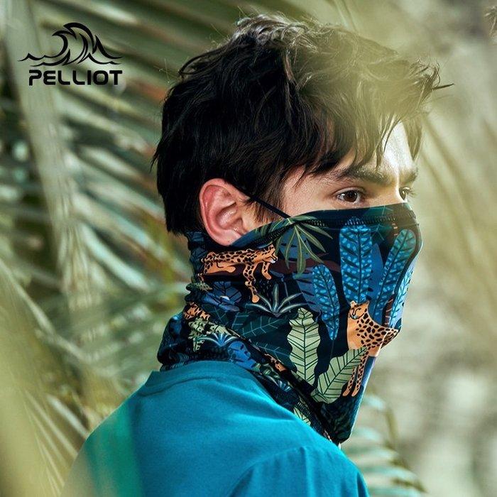 【露西小舖】Pelliot戶外頭巾UPF40+(叢林系列)運動圍脖防曬面罩防紫外線頭巾騎行脖套多功能萬用頭巾百變魔術頭巾