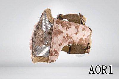 [01] CM1 武士 半罩式 AOR1 ( 護目鏡眼罩防護罩面罩面具口罩護嘴護具防彈頭套頭巾鳥嘴射擊cosplay