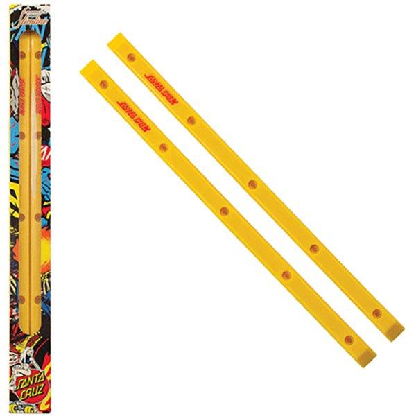 [CABAS滑板店] SANTA CRUZ SLIMLINE RAILS SANTA CRUZ 黃色 │復古 滑板邊條