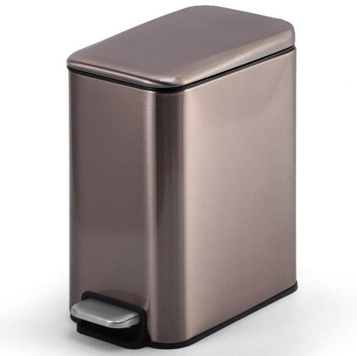 長方形不銹鋼垃圾桶  5L紙簍 垃圾桶 腳踏 家用創意衛生間保持開蓋垃圾桶7626