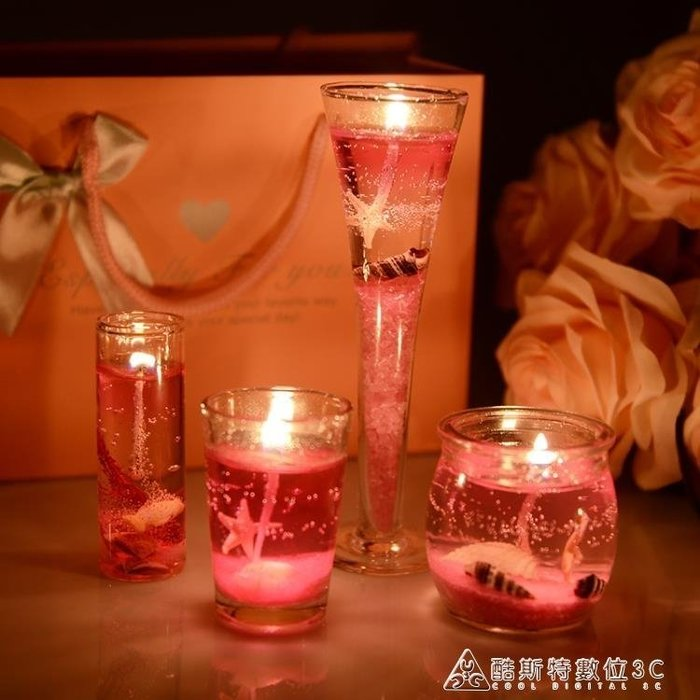 蠟燭果凍蠟燭浪漫生日禮物無煙蠟燭七夕情人節蠟燭小禮品創意燭光晚餐 酷斯特數位3c