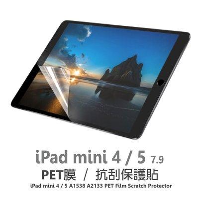 iPad mini4 mini5 7.9 A1538 A2133 PET膜 平板專用 亮面 抗刮 靜電保護貼