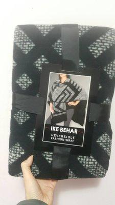 全新  大披肩 ike behar reversible fashion wrap雙面絨斗篷披肩外套