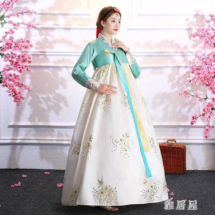 古裝服飾新款韓服宮廷傳統舞蹈服裝朝鮮舞服民族古裝成人朝鮮族表演服飾女 LN2369