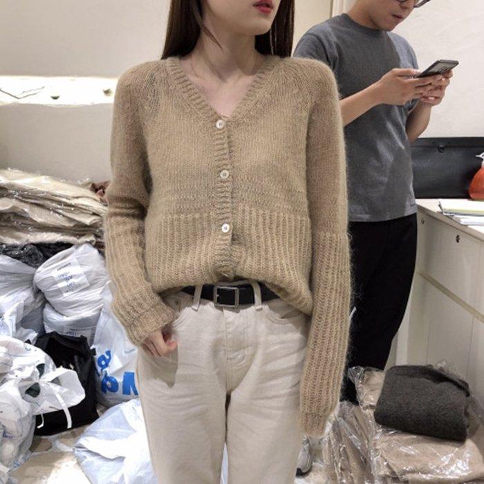 ❤Princess x Shop❤寬鬆毛衣針織開衫V領外穿長袖上衣外套TO6-87-1
