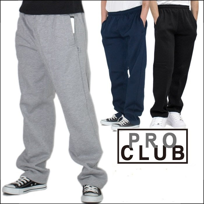 (安心胖) PRO CLUB Men's Comfort Fleece Pant 3XL 黑色