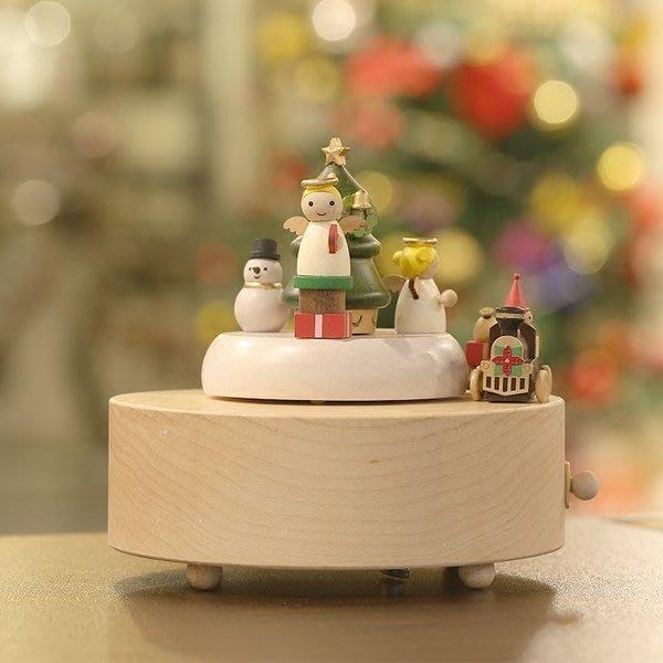 【優上精品】現貨臺灣木質音樂盒八音盒可愛旋轉聖誕生日禮物男女朋友(Z-P3164)