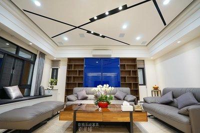 【歐雅系統家具】氣派奢華風 木工造型天花板 中島吧台 收納櫃