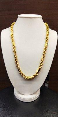 如玉坊珠寶 5兩六角麻花項鍊  男項鍊  黃金項鍊   2.0呎