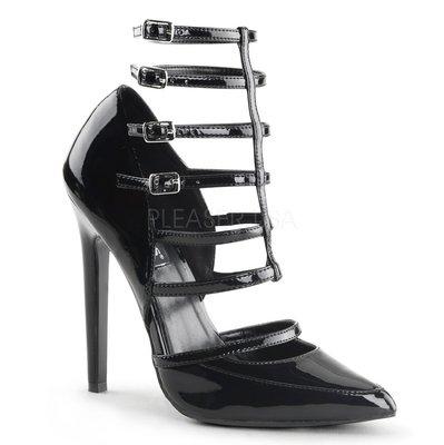 Shoes InStyle《五吋》美國品牌  PLEASER 原廠正品漆皮尖頭高跟包鞋 有大尺碼 出清『黑色』
