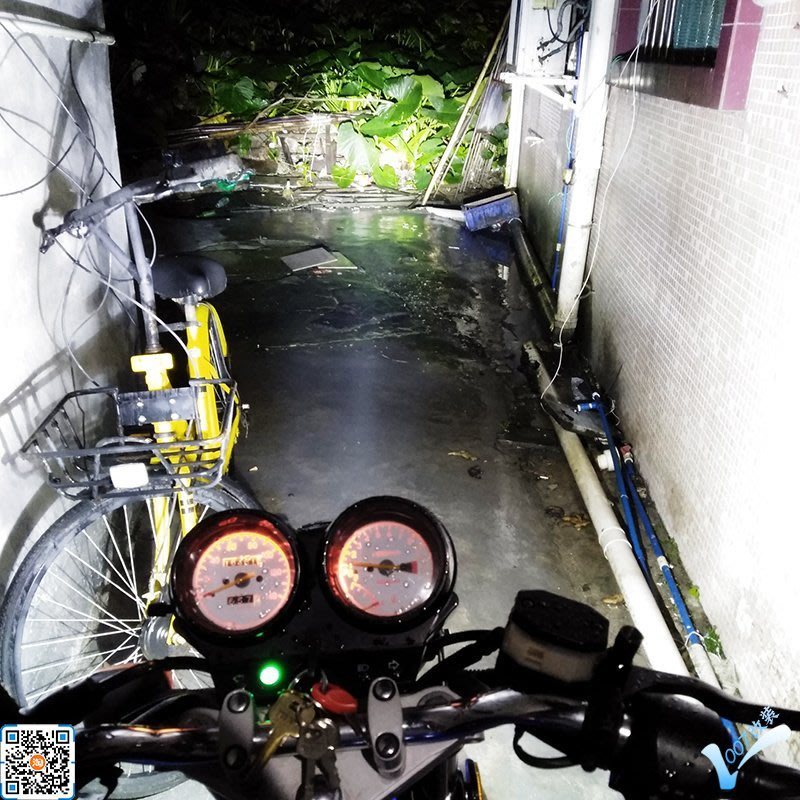 彎梁踏板摩托車氙氣燈套裝一體12v改裝燈泡35w強光前大燈超亮大燈