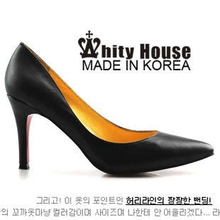 =WHITY=韓國高級LOWEEN代購‧內外全真皮羊皮 有大碼 義大利製時尚尖頭高跟鞋LXG1789