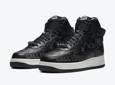 "GOSPEL【Nike Air Force1 High""Toll Free""】黑色 3M反光 男款 CU1414-001"