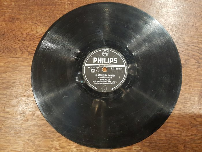 【卡卡頌 歐洲跳蚤市場/歐洲古董】PHILIPS_ Mitch Miller 民謠 十吋黑膠唱片