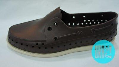 【URA 現貨】士林經銷 2013 Native Howard  Beaver Brown/Jiffy Black 咖啡/黑色  奶油底 懶人鞋 帆船鞋