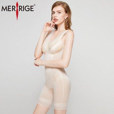 美人計塑身衣帶胸罩一體式女夏季薄收腹束腰無痕束身美體內衣文胸