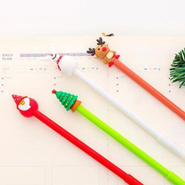 聖誕節3D胖嘟公仔聖誕筆 水性筆【XM0296】《Jami Honey》