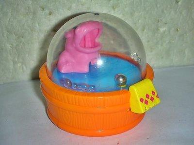A集.(企業寶寶玩偶娃娃)少見2011年麥當勞發行開心動物園-大嘴河馬公仔!