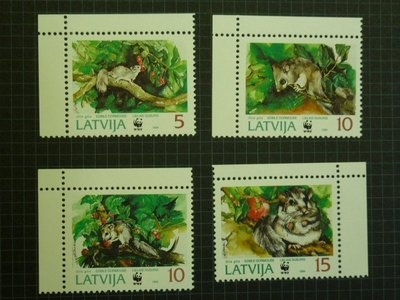 拉脫維亞 WWF野生動物保護郵票1994年