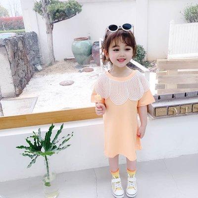 【VIAN】含運女童洋氣裙子夏裝2019新款網紅小童裝衛衣裙女孩女 時髦連衣裙