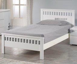 【DH】貨號DH036名稱《維娜》3.5尺精製白色實木單人床架(圖一)實木床底.備有5尺.6尺可選台灣製.主要地區免運費