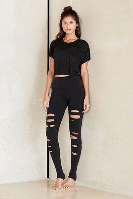 現貨!Alo yuga W5555R好萊塢時尚瑜珈品牌 運動外搭 時尚緊身褲修飾完美身形高腰機能正品
