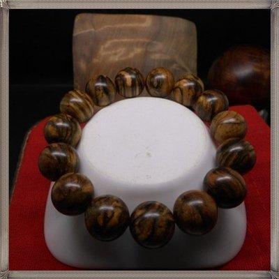 【逸品藏】印尼 花奇楠 手鍊 手珠 佛珠 15mm*15顆【花果香】送禮/禮物@非肖楠 黃檜【平安納福】