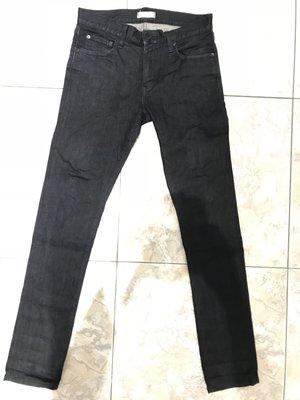 Uniqlo 優衣庫 skinny fit 窄管 牛仔褲 深藍 原色 w30