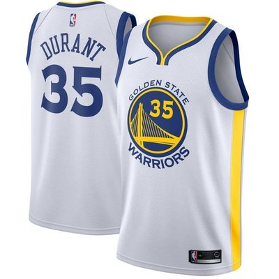 Kevin Durant Nike White Swingman Jersey