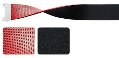 藍鯨高爾夫    Bellez 寬版耀眼雙色皮帶 #13220101,紅/黑(不含皮帶扣環)