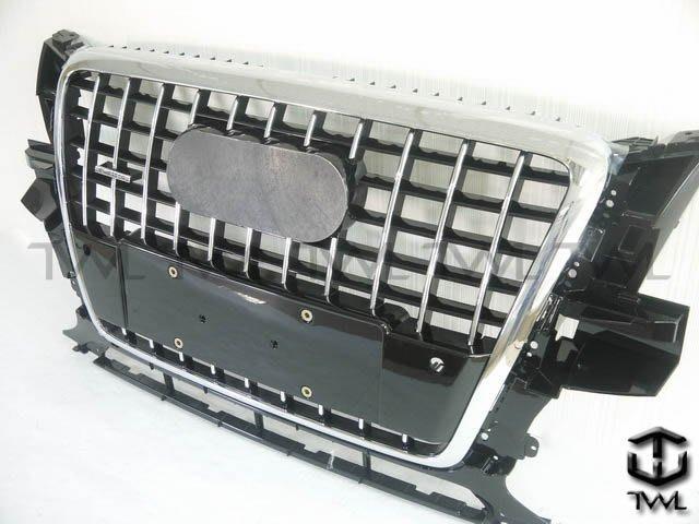 《※台灣之光※》全新AUDI奧迪Q5 11 12年新款S SQ5樣式改電鍍框橫條黑格水箱罩