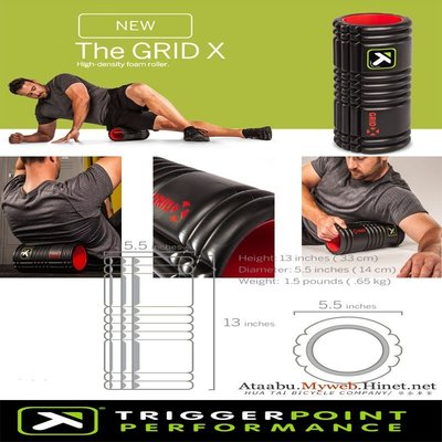 Trigger Point The Grid X 平衡訓練滾筒強化版 (狼牙棒 按摩棒 瑜珈柱)MIT運動襪
