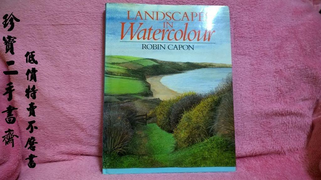【珍寶二手書齋B6】 Landscapes in Watercolour Capon, Robin