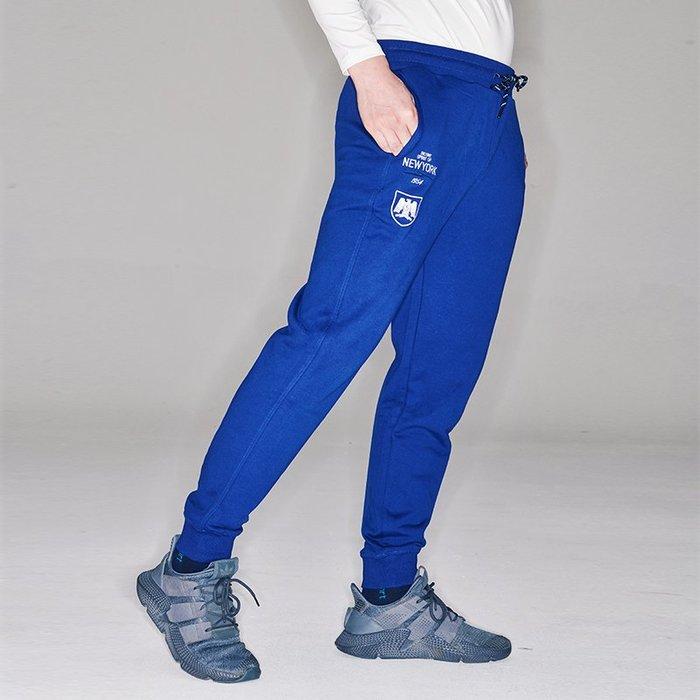【OTOKO Men's Boutique】固制:有種部隊獵鷹純棉運動縮口長褲/藍色(台灣獨家代理)