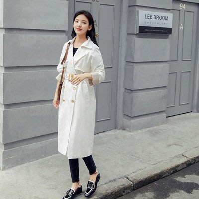 風衣 外套 長款大衣-簡約復古純色繫帶女外套2色73ue14[獨家進口][米蘭精品]