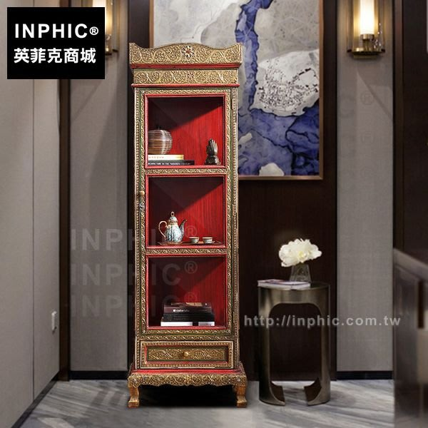INPHIC-金色彩繪泰國東南亞雕刻櫃子書櫃可訂做_CfnS
