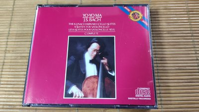 好音悅 Yo-Yo Ma 馬友友 BACH 巴赫 巴哈 無伴奏大提琴組曲 2CD CBS M2K37867 無ifpi