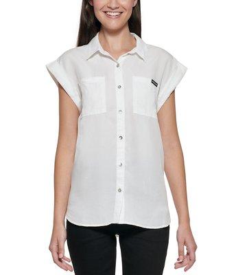 Calvin Klein Jeans Calvin Klein Cuffed-Sleeve Shirt