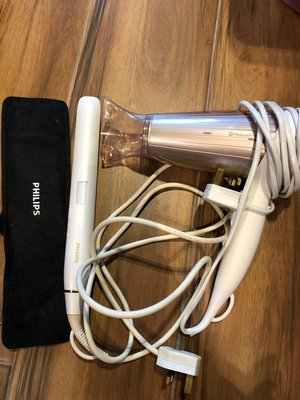 Philips 飛利浦負離子風筒及 負離子直髮器(一套)