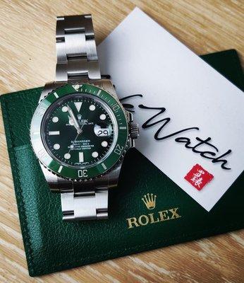 Rolex Watch 勞力士手錶 116610LV Submariner 綠綠「2012保用證」「60週年紀念版」「綠綠」