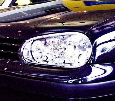 IDFR-汽車精品 VW 福斯 GOLF 4 鍍鉻大燈框