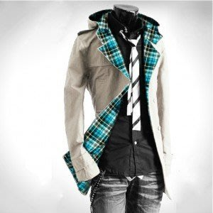 yes99buy加盟-上衣 2014秋冬새로운 男式韓味時尚連帽修身風衣 男式潮流夾克 外套