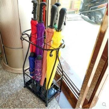 雨傘架 雨傘架酒店 大堂家用鐵藝傘筒雨傘桶收納桶落地式放折疊傘架子   全館免運