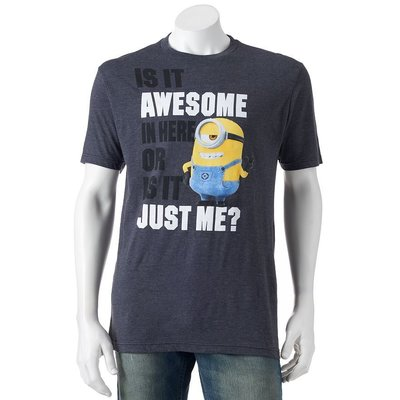 "Despicable Me 神偷奶爸 Minion "" Awesome "" 短袖 T S - XXL"