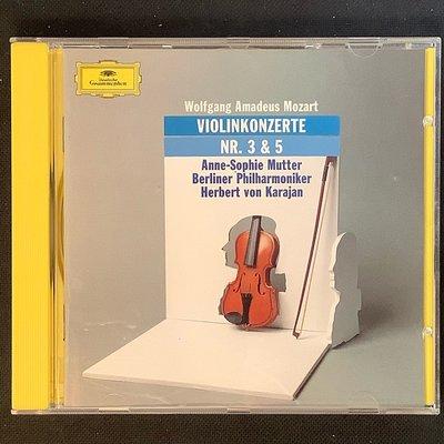 Mozart莫札特-小提琴協奏曲 Mutter慕特/小提琴 Karajan卡拉揚/指揮 德國半銀圈版無ifpi