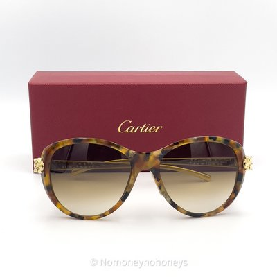 【全新】Cartier 卡地亞 Panthere de Cartier Sunglasses 美洲豹 太陽眼鏡