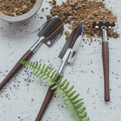 全店活動折扣 不銹鋼迷你多肉園藝鏟子小型三件套種花養花家庭花園園藝工具家用