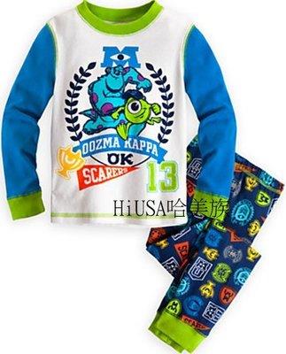 哈美族 美國 Disney 迪士尼 Monsters University 怪獸大學 純棉長袖2件式 睡衣/家居服