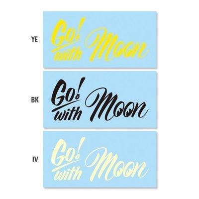 (I LOVE樂多)MOONEYES Go with MOON Sticker 轉印貼紙 可貼於汽機單車安全帽