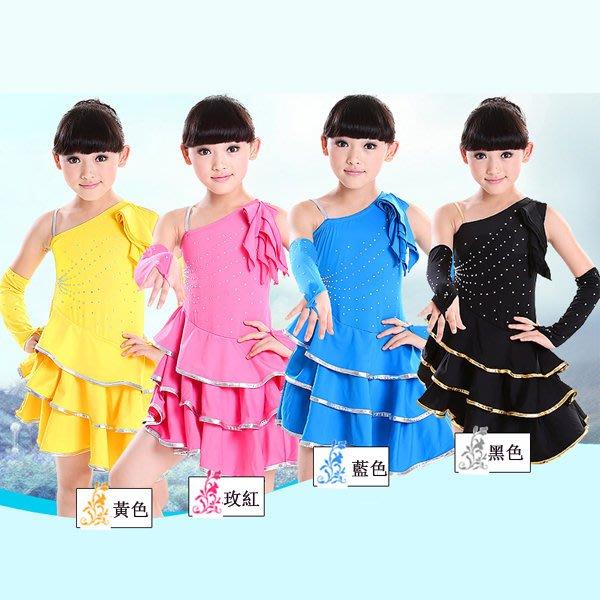 5Cgo【鴿樓】會員有優惠 21541143136 兒童拉丁舞服裝 女童舞蹈服少兒比賽拉丁舞服女裙幼兒演出服 兒童舞衣